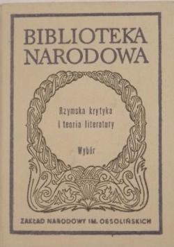 Rzymska krytyka i teoria literatury,BN