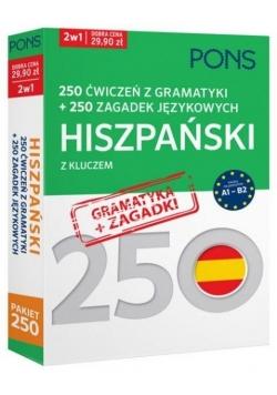 250 ćwiczeń/250 zagadek gramatyka. Hiszpański 2w1