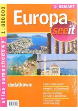 Europa Seeit. Atlas samochodowy 1:800000