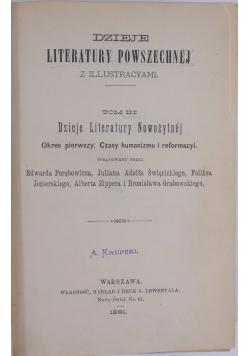Dzieje literatury powszechnej, 1891 r.