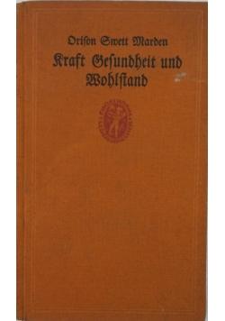 Kraft gesundheit und bohiftand, 1922 r.
