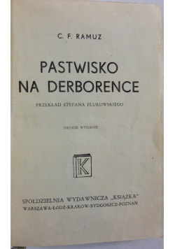 ,Pastwisko na Derborence 1947r.