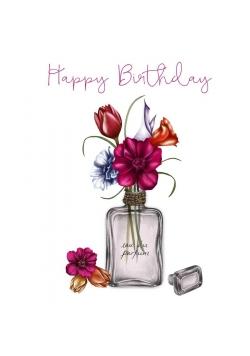 Karnet Swarovski kwadrat CL0313 Urodziny kwiaty