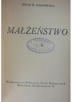 Małżeństwo, tom XXXVII, 1925 r.