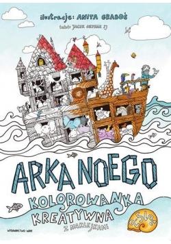 Arka Noego. Kolorowanka kreatywna z naklejkami