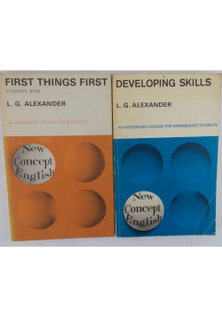 First Things First/Developing Skills