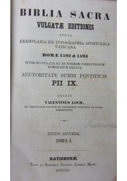 Biblia sacra vulgatae editionis, 1863 r.