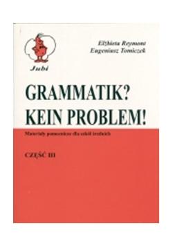 Grammatik? Kein Problem, cz. III