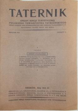 Taternik, rocznik XIX, zeszyt 5, 1935 r