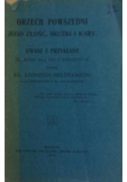 Grzech powszedni. Jego złość, skutki i kary, 1919 r.