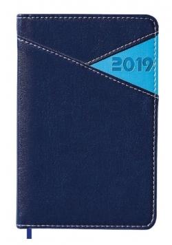 Kalendarz 2019 książkowy A6 granatowy EASY