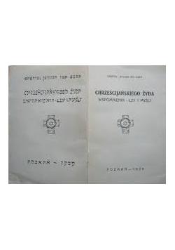 Chrześcijańskiego żyda wspomnienia - łzy - i myśli, 1928