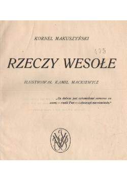 Rzeczy wesołe , 1924 r.