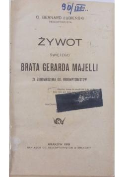 Żywot świętego brata Gerarda Majelli, 1918 r.