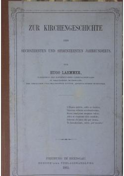 Zur Kirchengeschichtliche, 1863r.