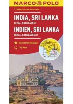 Mapy kontynentalne Indie...1:2,5mil. MARCO POLO