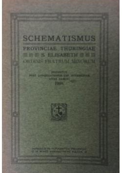 Schematismus. Provinciae Thuringiae, 1908 r.