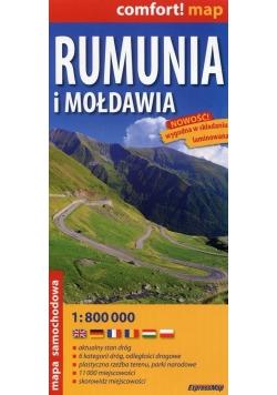 Rumunia i Mołdawia mapa samochodowa 1:800 000