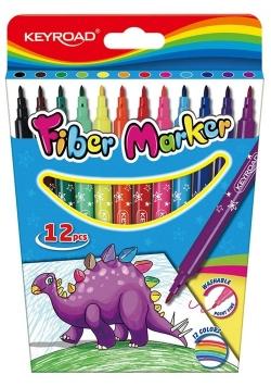 Flamastry Fiber Marker na zawieszce 12 sztuk