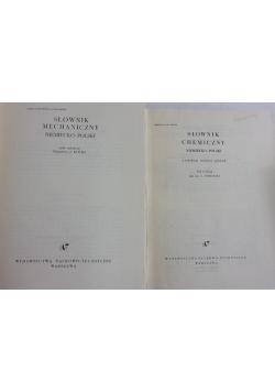 Słownik :Chemiczny niemiecko-polski i Mechaniczny niemiecko-polski