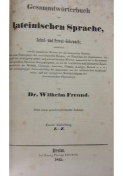Gesammtworterbuch der lateinischen Sprache , 1845 r.