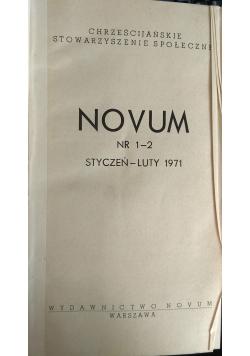 Novum, nr. 1-12. 1971r.