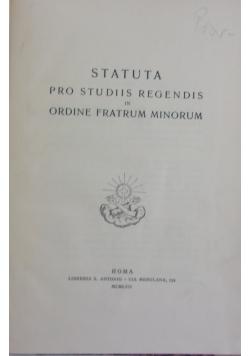 Statuta pro studiis regendis