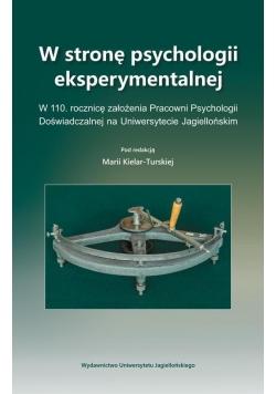 W stronę psychologii eksperymentalnej
