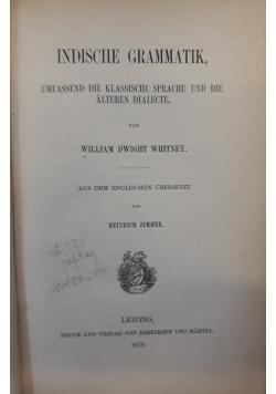 Indische grammatik, 1879 r.