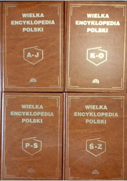 Wielka Encyklopedia Polski, zestaw 4 książek