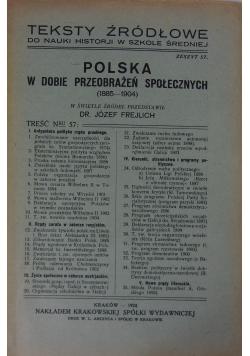 Teksty źródłowe. Polska w dobie przeobrażeń społecznych, 1924r.