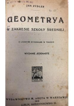 Geometrya, 1918 r.