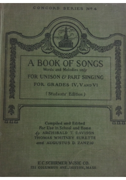 A book of songs ,1924r.
