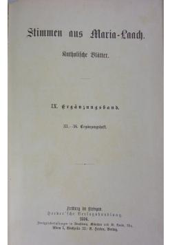 Stimmen aus Maria- Laach, 1886 r.