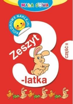 Mała sowa. Zeszyt 3-latka cz. II
