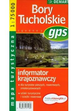 Bory Tucholskie mapa turystyczna