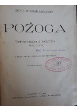 Pożoga, 1923 r.