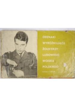 Odznaki wyróżniające żołnierzy ludowego wojska polskiego 1946 - 1969