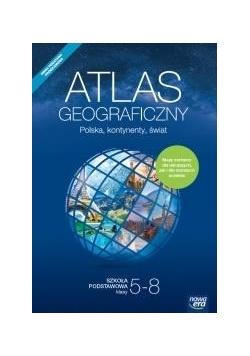 Atlas geograficzny SP Polska, kontynenty, świat NE