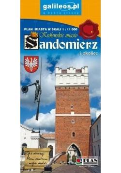 Plan miasta - Sandomierz i okolice 1:11 000 w.2018