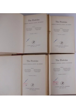 The Proteins volume I part A i B, volume II part A i B