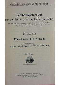 Taschenworterbuch der polnischen und deutschen Sprache, 1919 r.