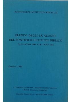 Elenco degli ex alunni del pontificio istituto biblico