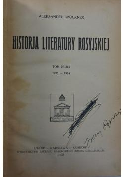 Historja literatury rosyjskiej, tom II, 1922 R.