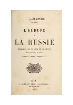 L'Europe et La Russie