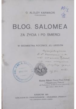 Błog. Salomea, 1911r.