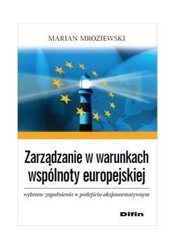 Zarządzanie w warunkach wspólnoty europejskiej