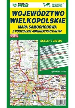Województwo Wielkopolskie 1:240 000 mapa samoch.