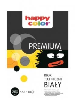 Blok techniczny biały A3/10K Premium HAPPY COLOR
