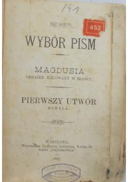 Wybór pism, 1902 r.